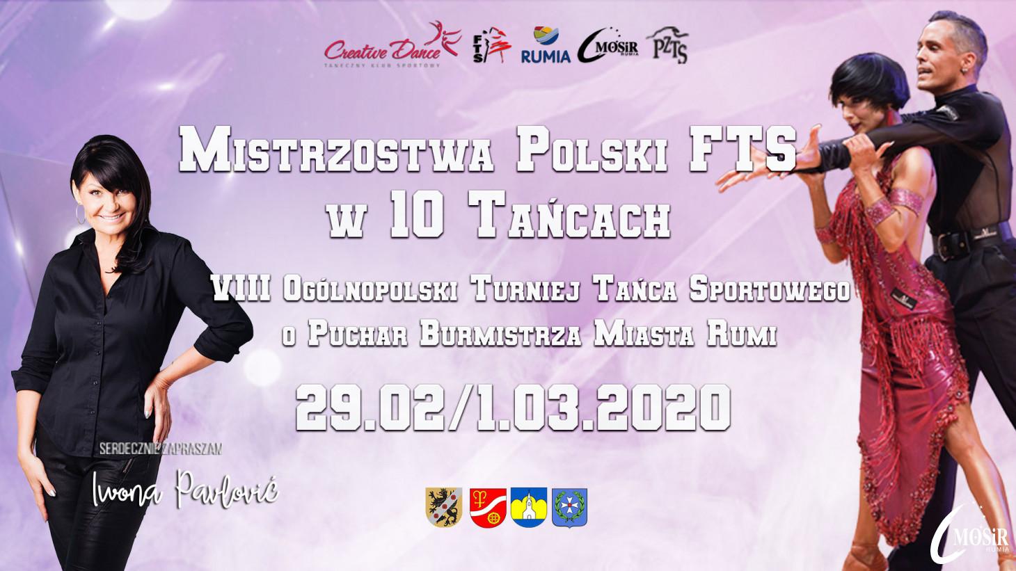 Mistrzostwa Polski FTS w 10 Tańcach i VIII Ogólnopolski Turniej Tańca o Puchar Burmistrza Miasta Rumi