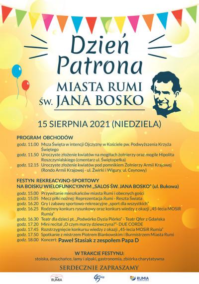 Dzień Patrona Rumi Św. Jana Bosko